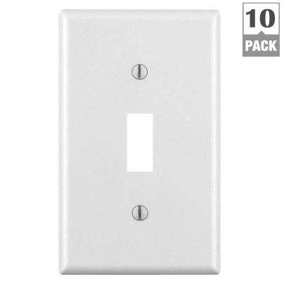 1-Gang Toggle Wall Plate, White (10-Pack)