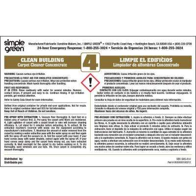 Clean Building Carpet Cleaner Secondary Label (10-Pack)