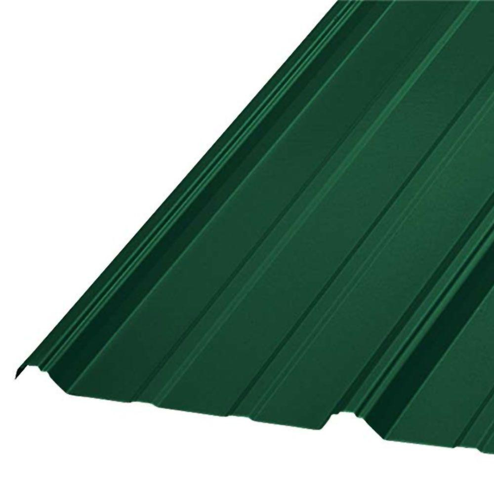 10 ft. SM RIB Galvanized Steel 29-Gauge Roof Panel in Forest