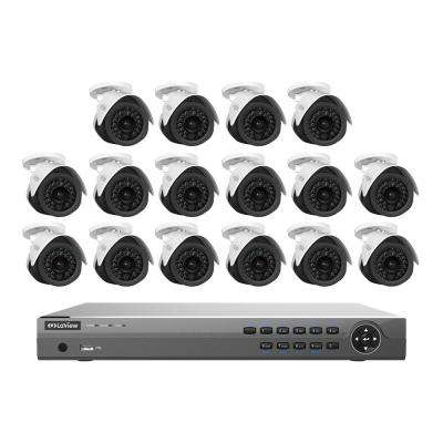 16-Channel 2MP 3TB IP NVR Surveillance System (16) 2MP Bullet Cameras with Remote View