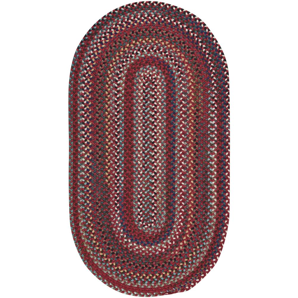 Capel bunker hill cardinal 5 ft x 8 ft oval area rug for Accent rug vs area rug