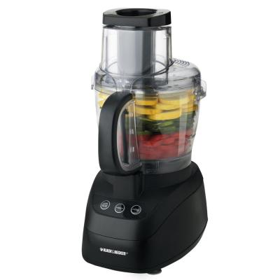 Wide Mouth 10-Cup 2-Speed Black Food Processor