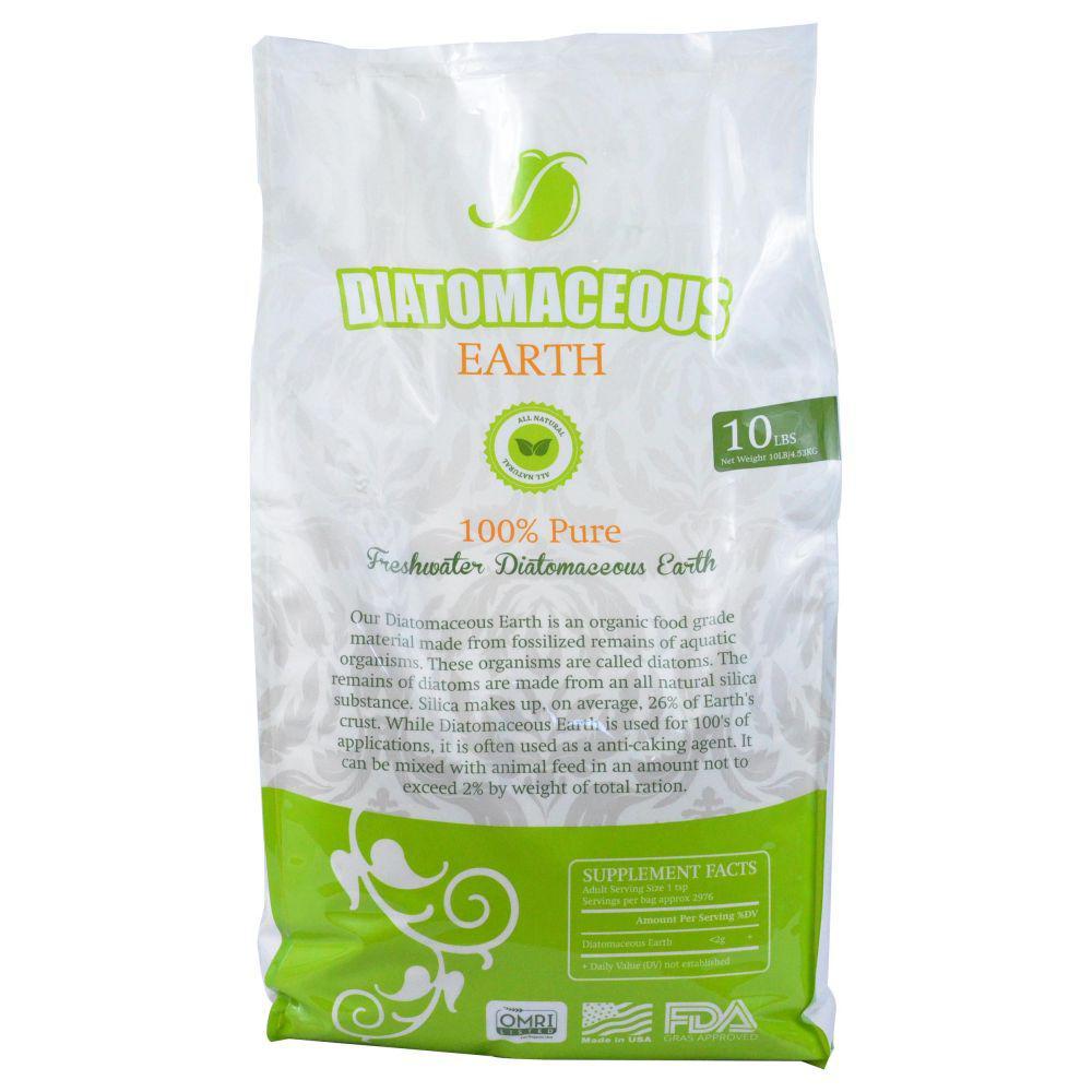 Absorbent Industries 10 Lbs Bag Diatomaceous Earth Food Grade Fresh Water Type Codex De 0 5 Ai Hd 10066 The Home Depot