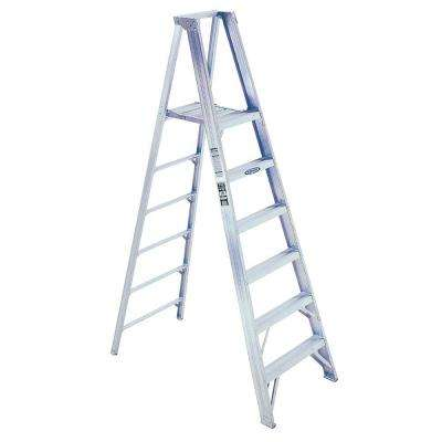 14 ft. Reach Aluminum Platform Step Ladder with 375 lb. Load Capacity Type IAA Duty Rating