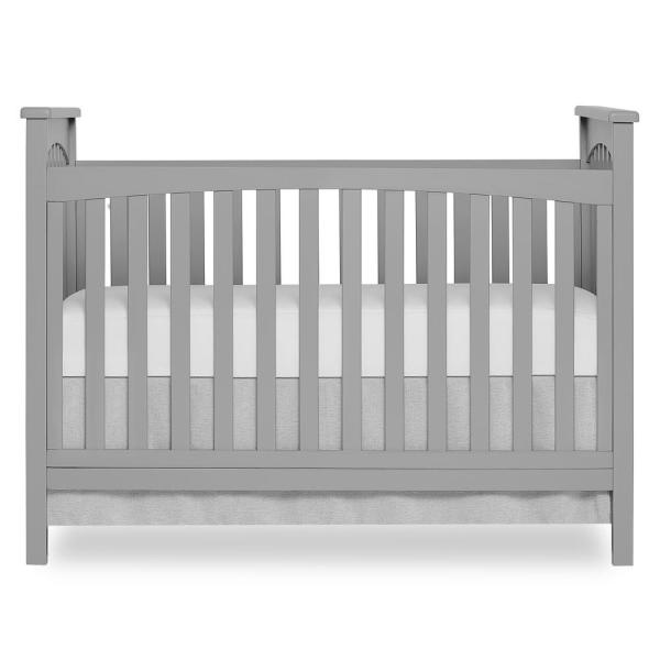 Dream On Me Cape Town Pebble Grey 5-in-1 Convertible Crib