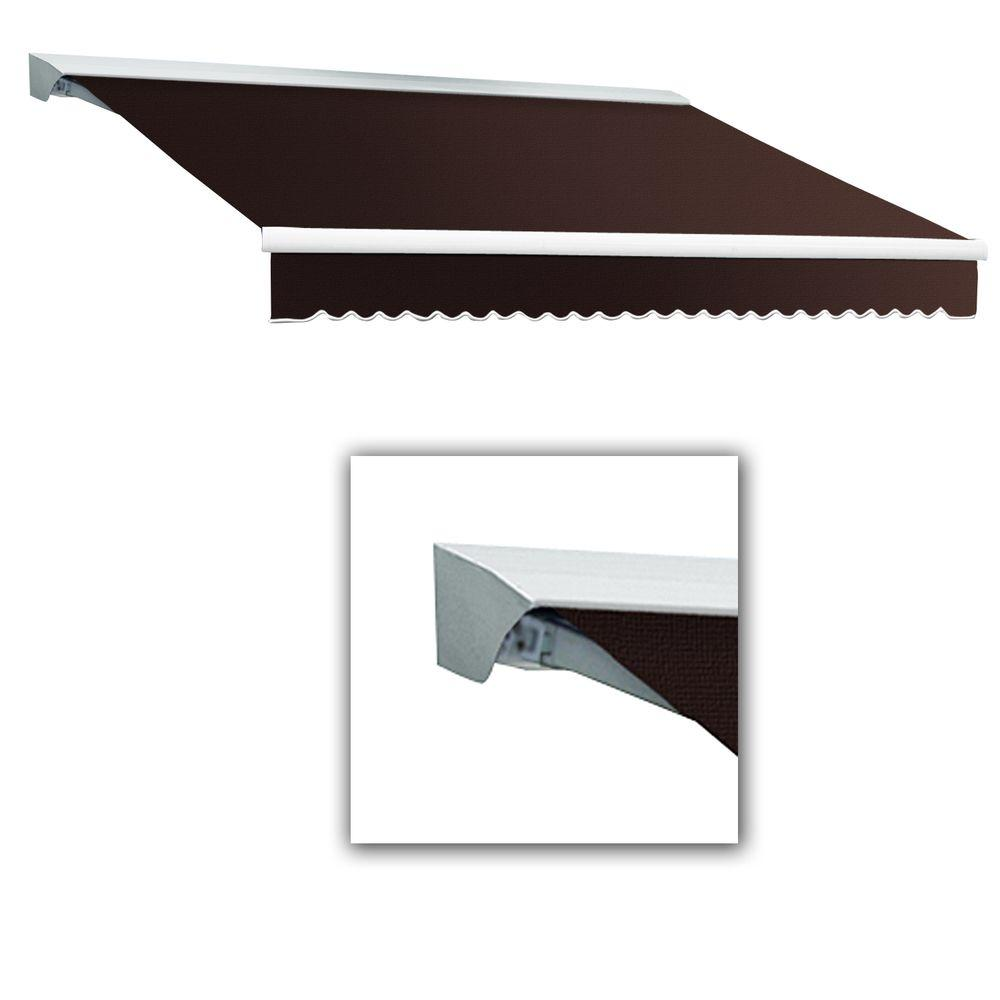 AWNTECH 8 ft. LX-Destin with Hood Right Motor/Remote Retractable Awning (84 in. Projection) in Brown