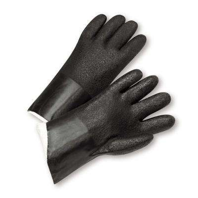 Standard Acid Grip PVC Jersey Lined Gloves - Dozen Pair