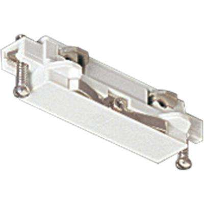 Alpha Trak White Track Lighting Straight Connector Accessory