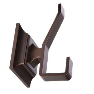 Click here to buy ARISTA Leonard Collection Double Robe Hook in Oil Rubbed Bronze by ARISTA.