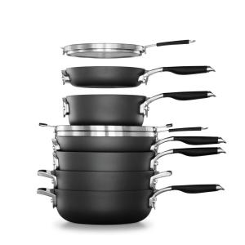 Select Space Saving 9-Piece Hard-Anodized Aluminum Nonstick Cookware Set