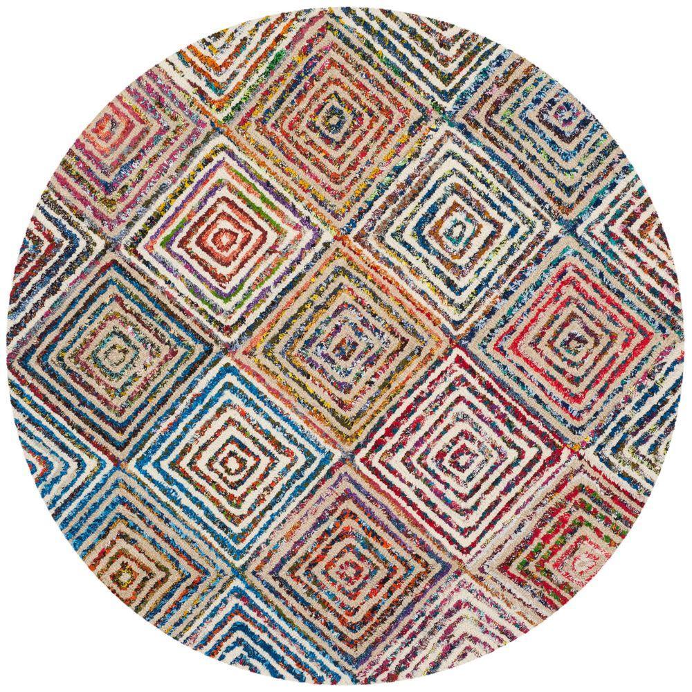 safavieh nantucket cream 4 ft x 4 ft round area rug nan608a 4r the home depot. Black Bedroom Furniture Sets. Home Design Ideas
