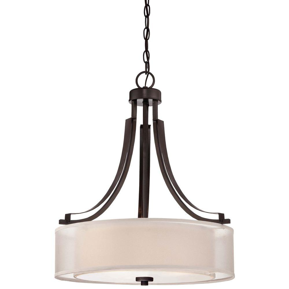 Minka lavery parsons studio 3 light smoked iron pendant