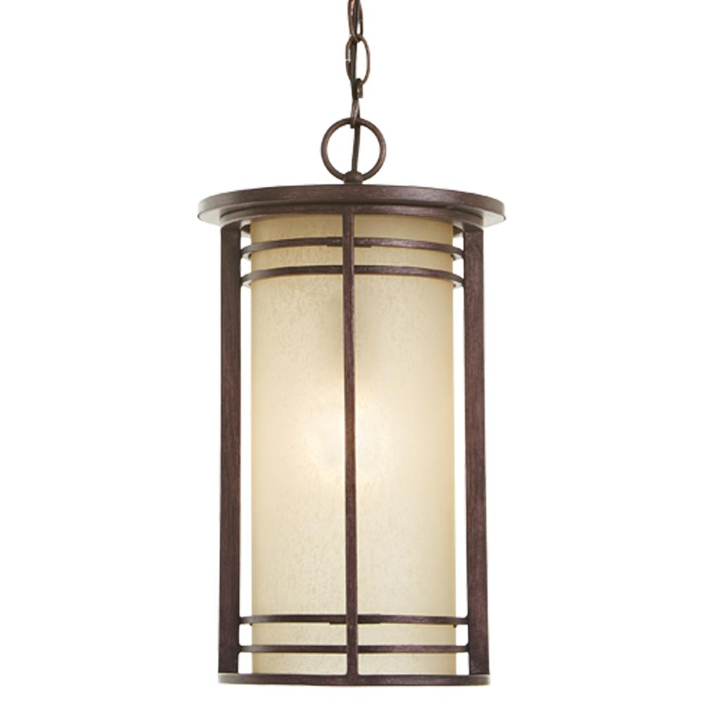 Home Decorators Collection 1-Light Bronze Outdoor Pendant