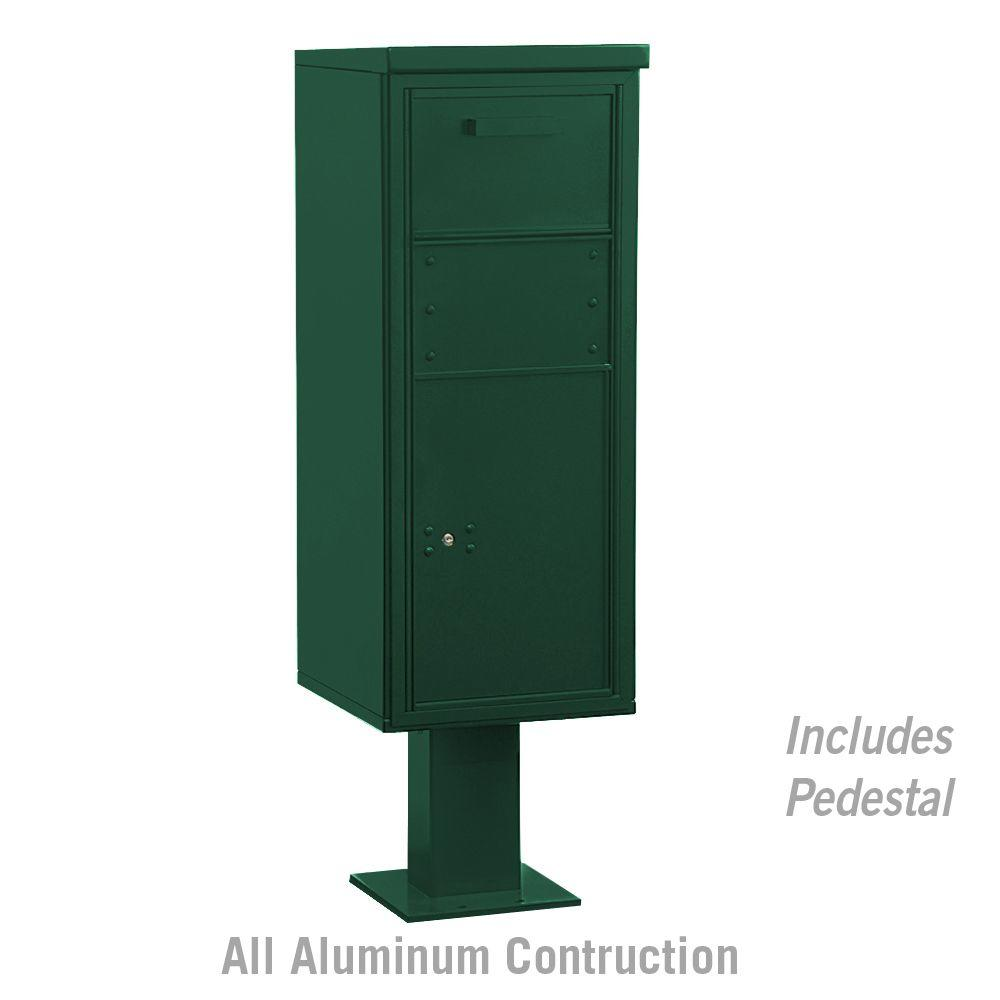 Salsbury Industries 3400 Series Collection Box Green-DISCONTINUED
