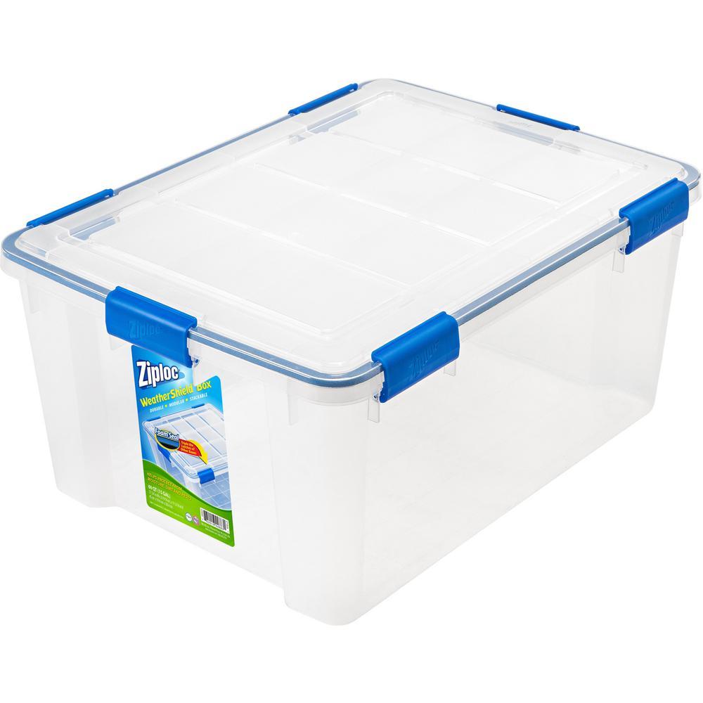 IRIS 60 Qt. Ziploc Weather Shield Storage Box in Clear-394008 - The ...
