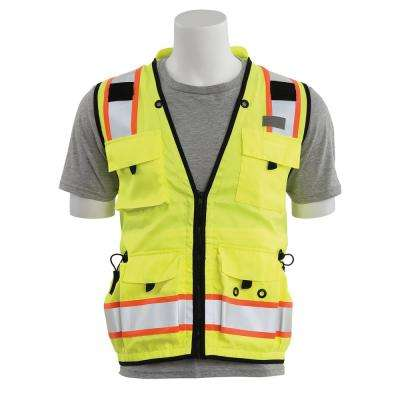 S252C 5X-Large HVL Mesh/Solid Polyester Surveyor Vest