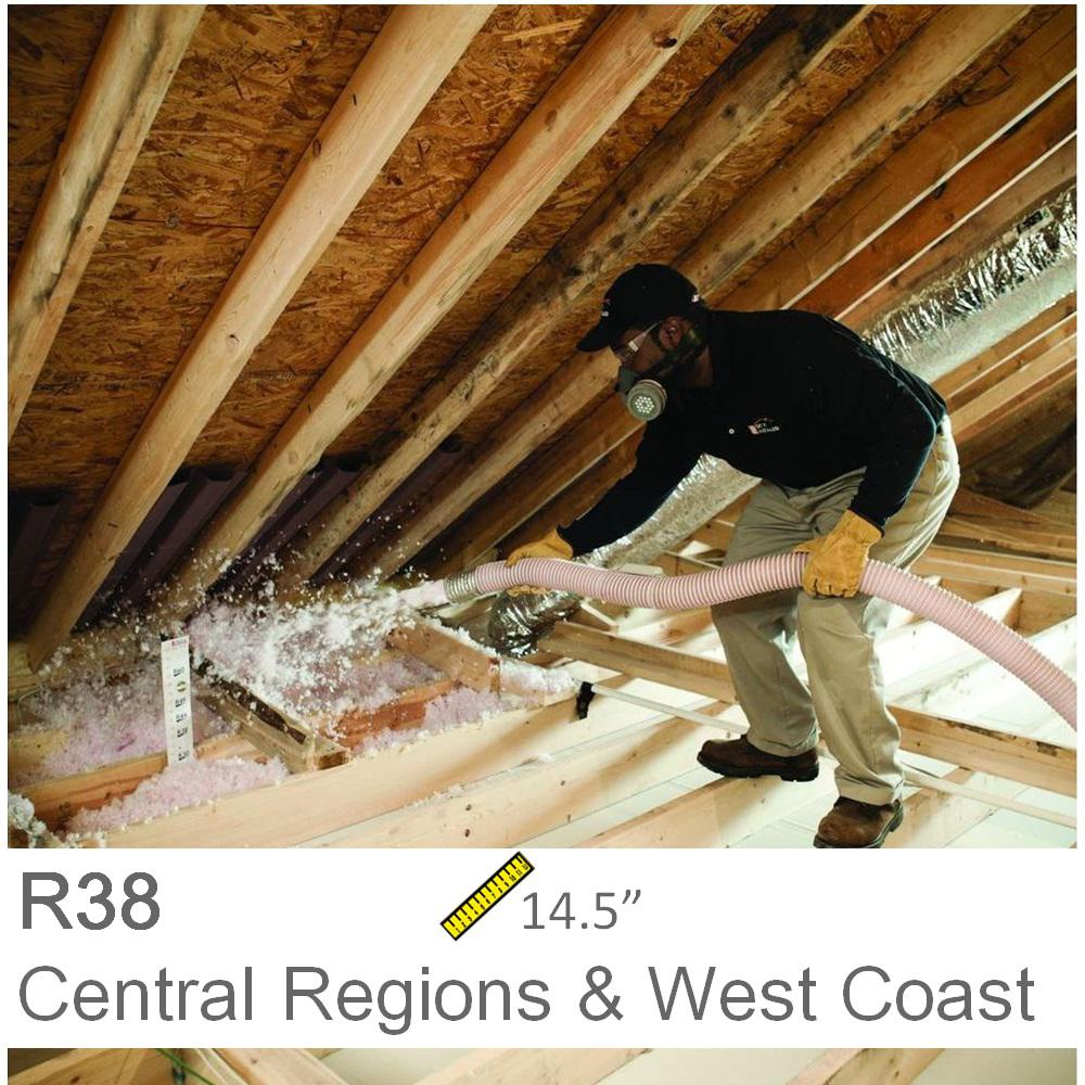 Installed r 38 fiberglass blown in attic insulation r 38 1000sqft installed r 38 fiberglass blown in attic insulation solutioingenieria Gallery