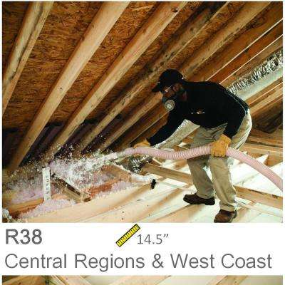 Installed R-38 Fiberglass Blown-in Attic Insulation