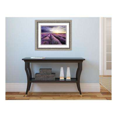 "19 in. H x 23 in. W ""Lavender Sunrise"""" Framed Print Wall Art"
