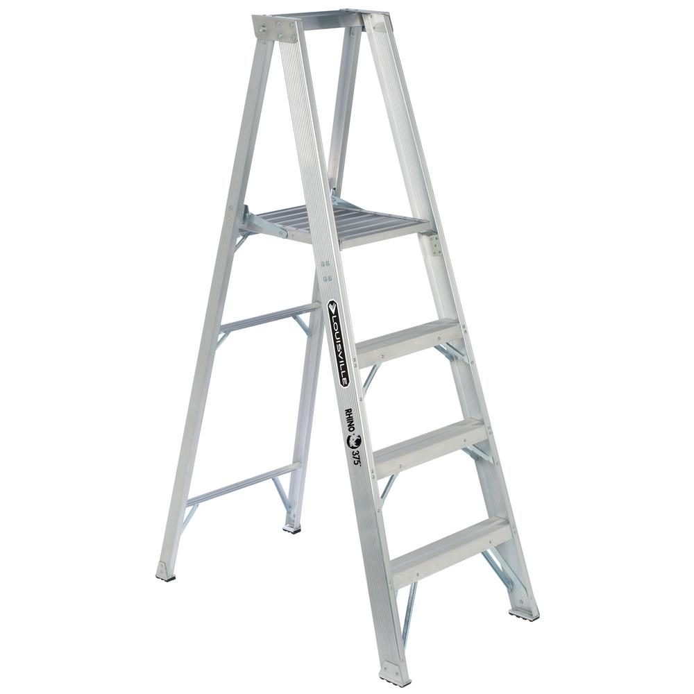4 ft. Aluminum Platform Step Ladder with 375 lbs. Load Capacity
