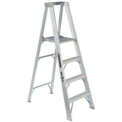 4 ft. Aluminum Platform Step Ladder with 375 lbs. Load Capacity Type IAA Duty Rating