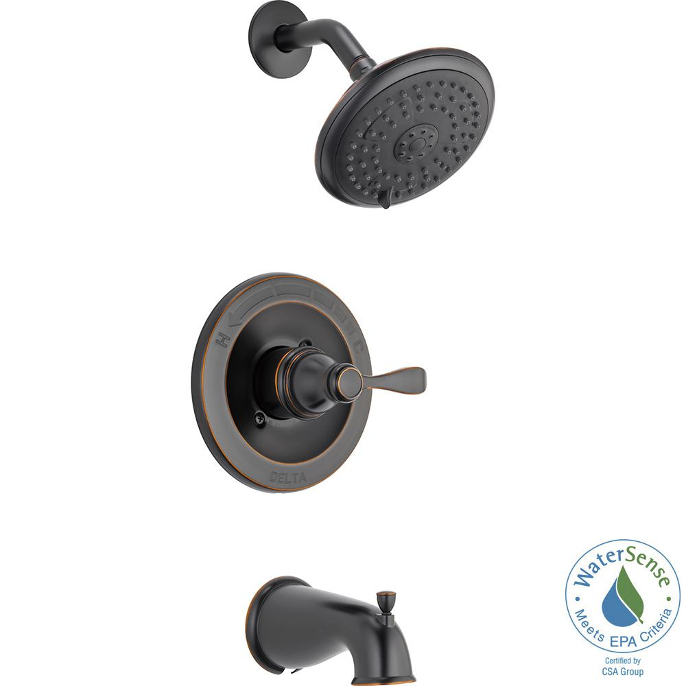 Delta Porter Single-Handle 3-Spray Tub and Shower Faucet in Oil ...