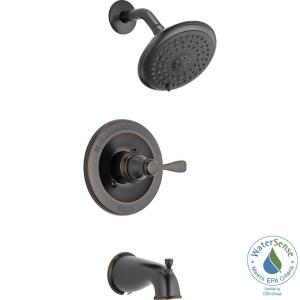Delta Porter Single-Handle 3-Spray Tub and Shower Faucet in Oil Rubbed Bronze (Valve Included) by Delta