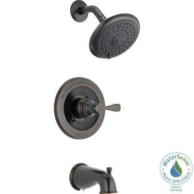 Porter Single-Handle 3-Spray Tub and Shower Faucet in Oil Rubbed Bronze (Valve Included)