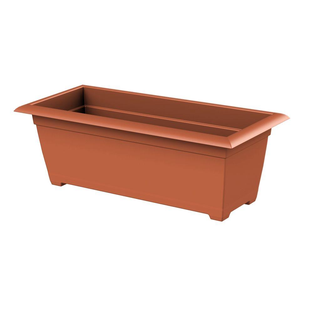 Dayton 27 in. x 9 in. Clay Plastic Window Box
