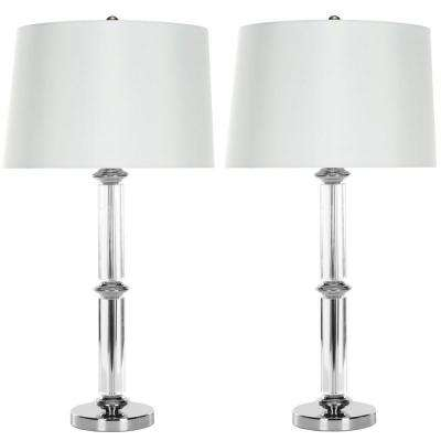 Vendome 29.5 in. Clear Crystal Table Lamp (Set of 2)