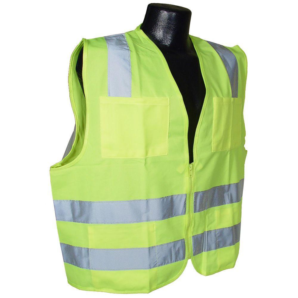 Radians Std Class 2 Medium Green Solid Safety Vest by Radians