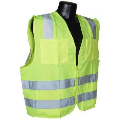 Std Class 2 Vest Green Solid Large
