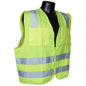 Radians Std Class 2 Medium Green Solid Safety Vest by Radians