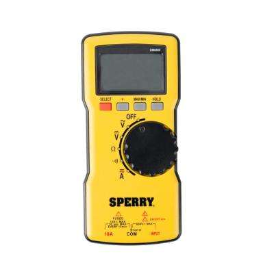 600V AC/DC Thin Digital Multimeter Autoranging