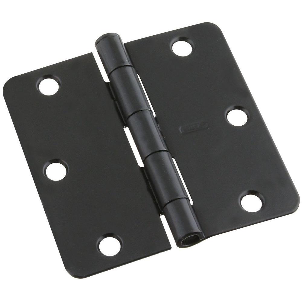 Stanley-National Hardware 3-1/2 in. Black Door Hinge