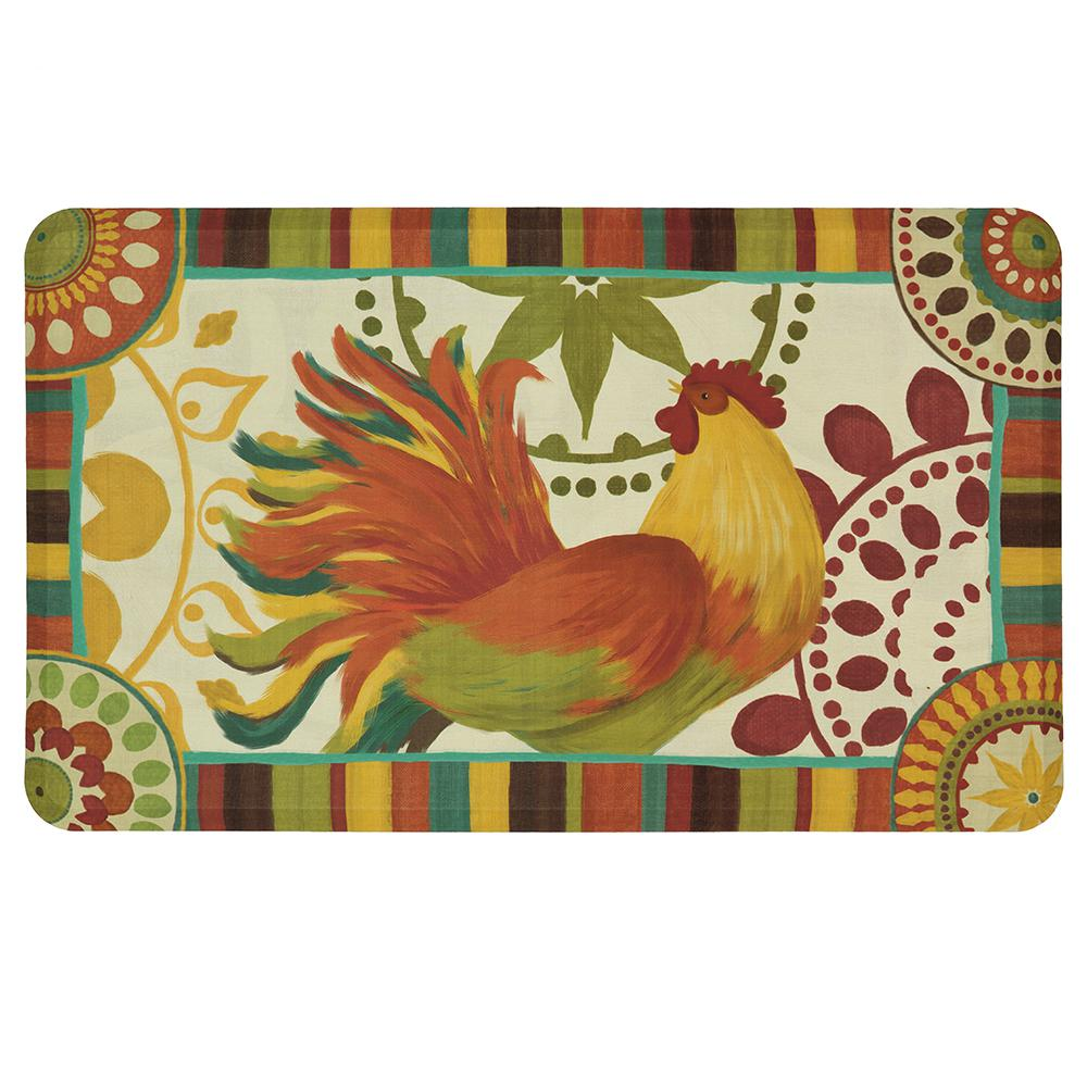 Mohawk Home Painted Spice Rooster 18 In. X 30 In. Kitchen Mat