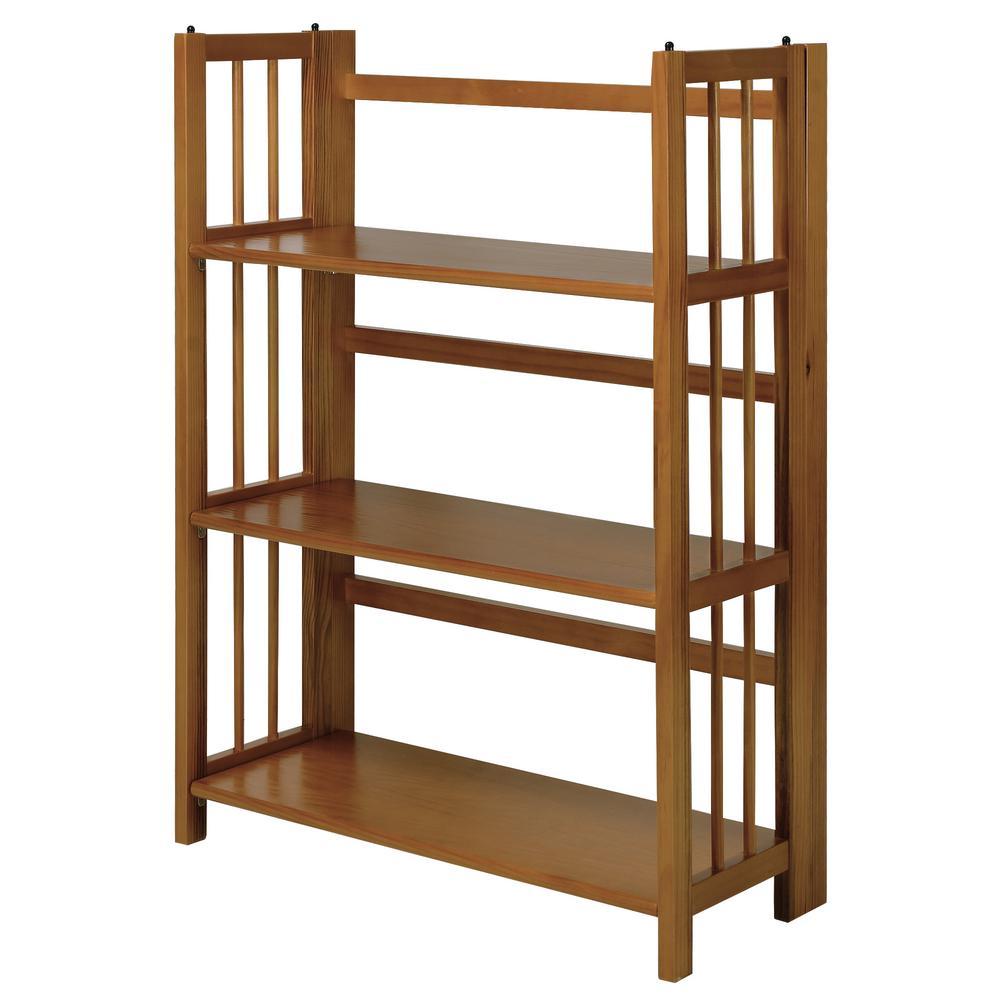 Chestnut Folding/Stacking Open Bookcase