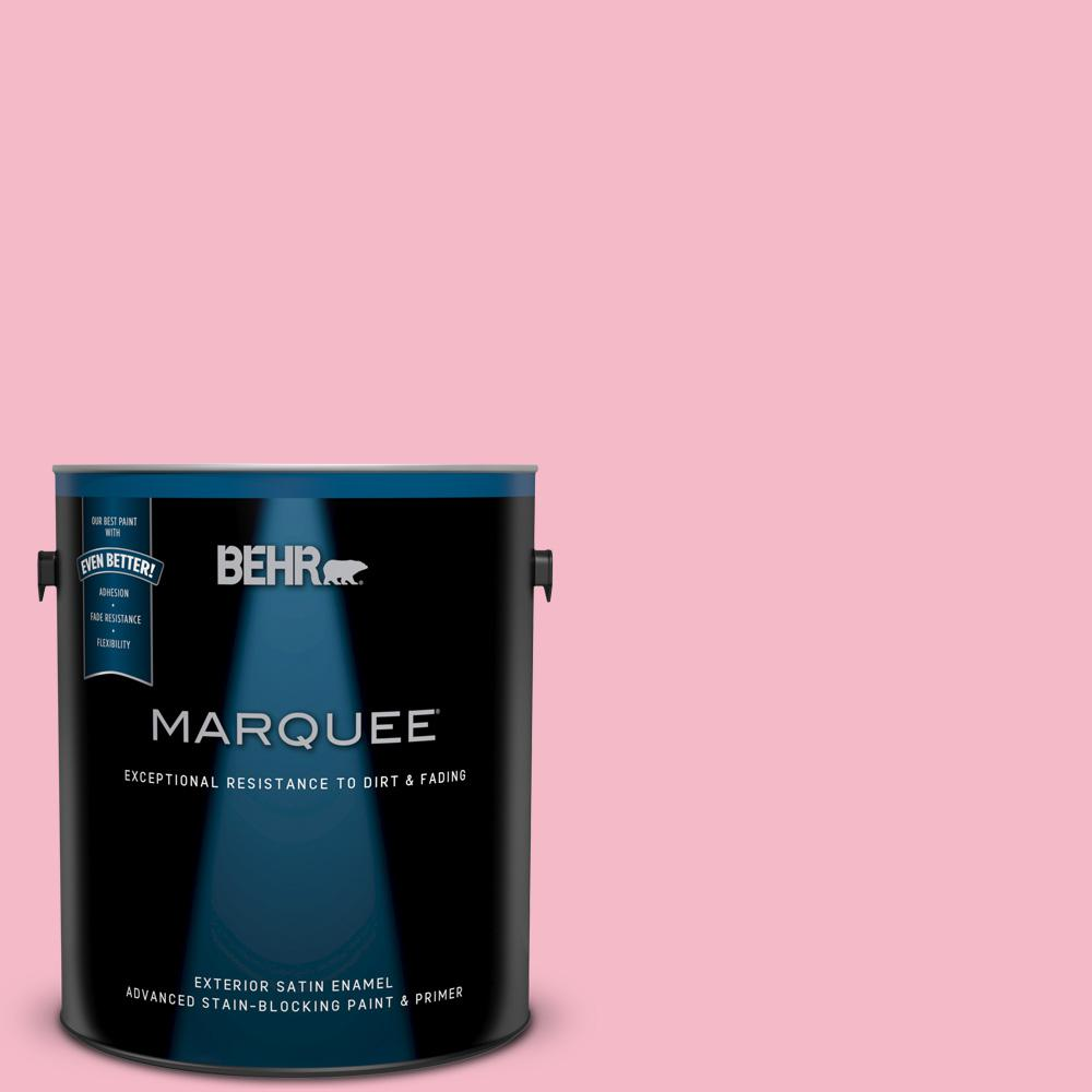BEHR MARQUEE 1-gal. #120C-2 Pink Punch Satin Enamel Exterior Paint ...