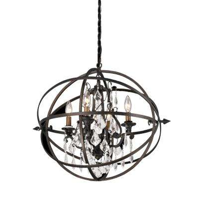 Byron 4-Light Vintage Bronze Pendant