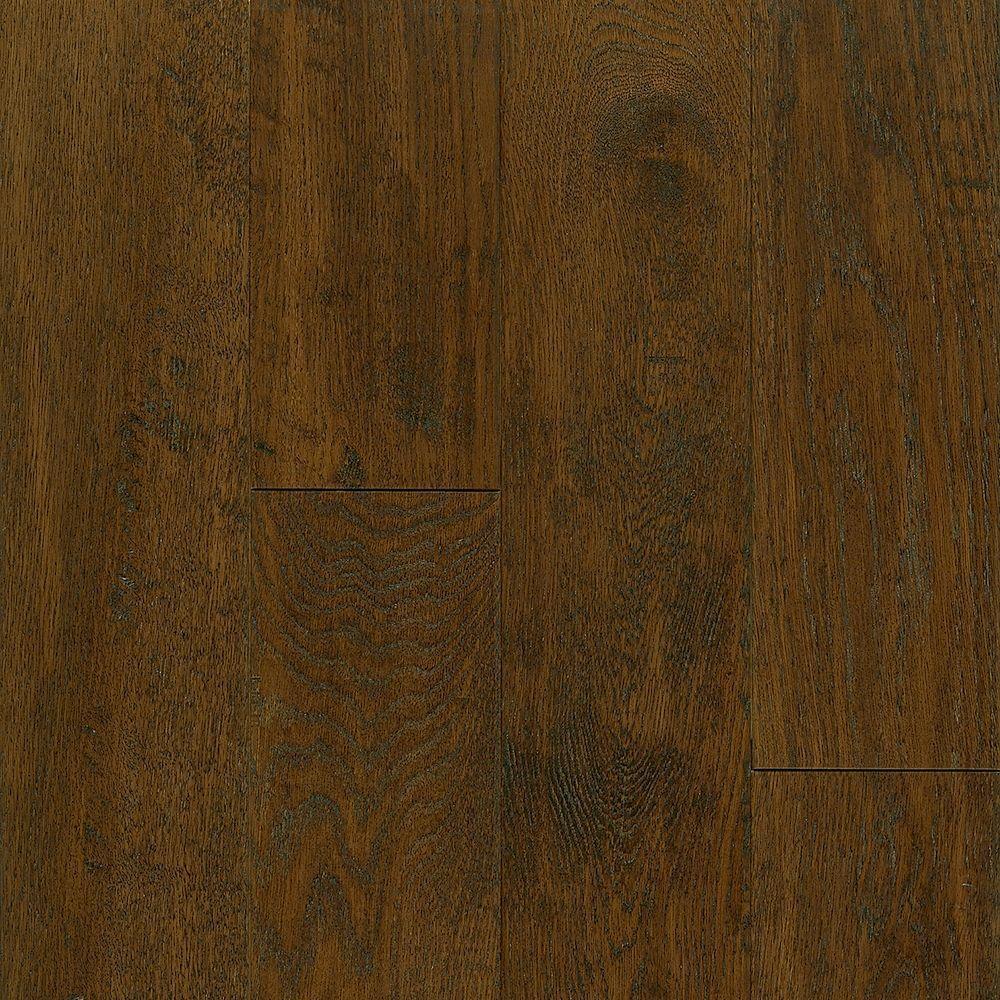 Take Home Sample - American Vintage Scraped Mocha Hardwood Flooring - 5 in. x 7 in.