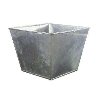 7-3/8 in. Tapered Square Metal Pot