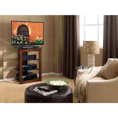 Caramel Shelved Entertainment Center