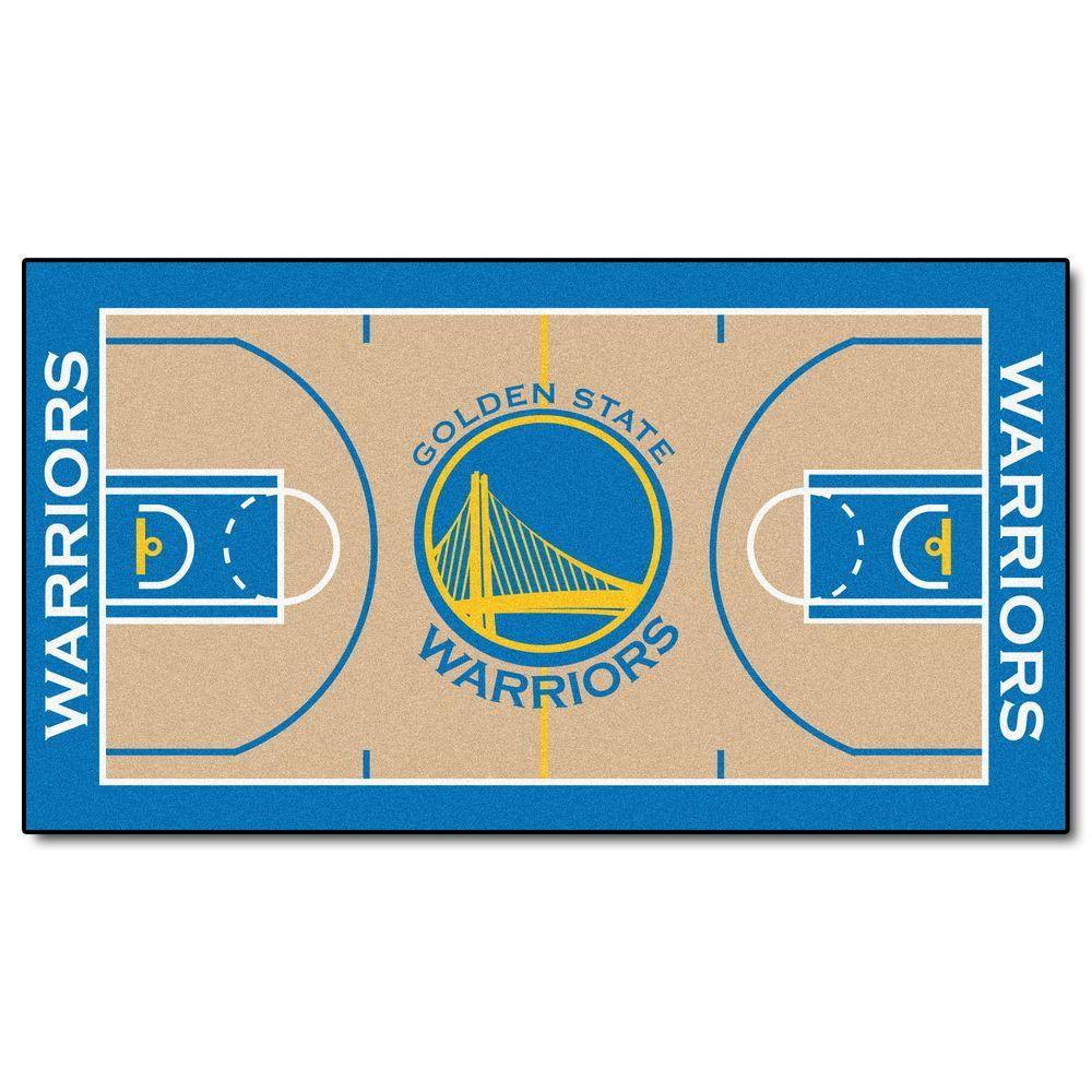 Fanmats Nba Golden State Warriors 2 Ft 6 In X 4 Ft 6 In