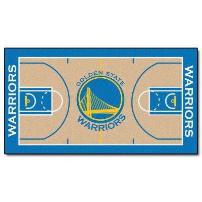 NBA Golden State Warriors 2 ft. 6 in. x 4 ft. 6 in. Large Court Runner