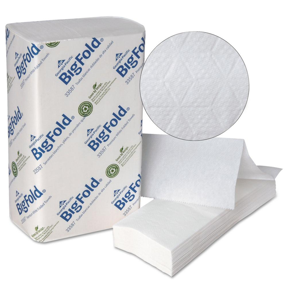 BigFold 10.2 in. x 10.8 in. White Premium Recycled Paper Towel