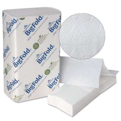 BigFold 10.2 in. x 10.8 in. White Premium Recycled Paper Towel (10 Packs Per Case)