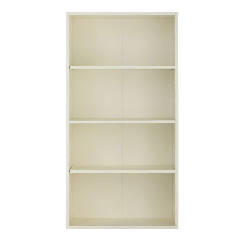Home Decorators Collection Baxter White Open Bookcase 1974420410 The Home Depot