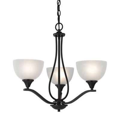 Bristol Lane 3-Light Oil-Rubbed Bronze Chandelier