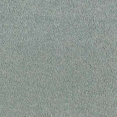 Carpet Sample - Shining Moments I (S) - Color Seafoam Green Texture 8 in. x 8 in.