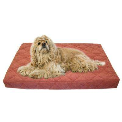Small Protector Pad Quilted Orthopedic Jamison Pet Bed - Earth Red